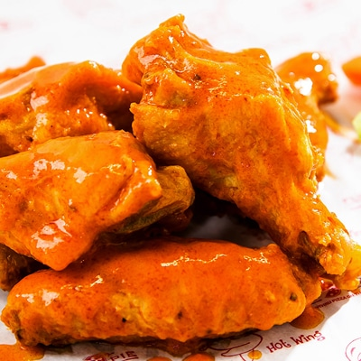 Have Hot Wings Delivered right to your car in our One Of A Kind drive through! We take hot wings very seriously here at Fly Pie!